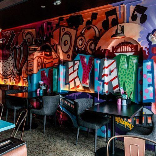 burger restaurant in bondi - milky lane restaurant